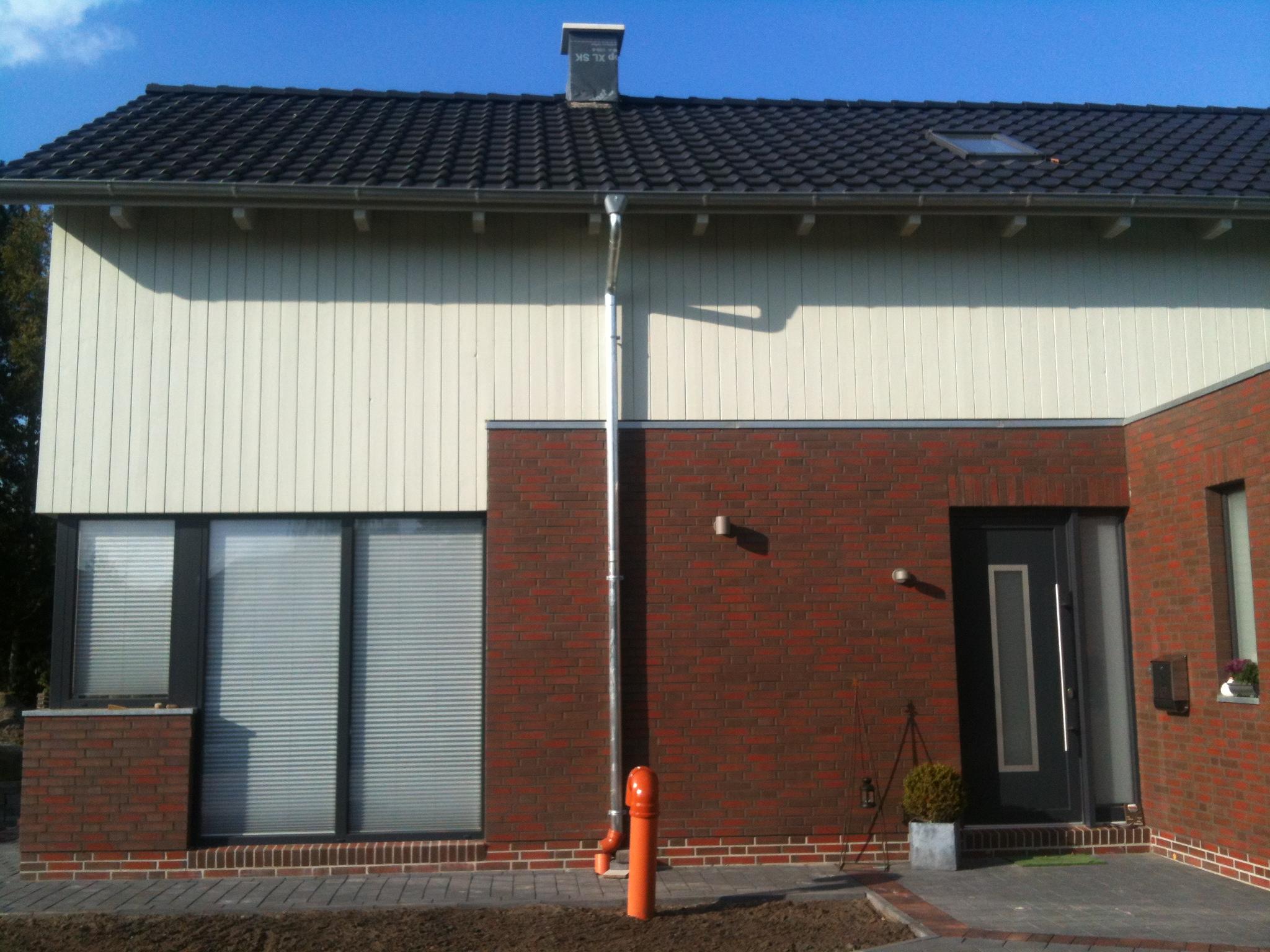 Fallrohr fassade  Die Fassade ist dran | Felix' & Jannas Bautagebuch und Blog